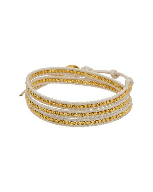 Chan Luu - Metallic 18k Over Silver Leather Wrap Bracelet - Lyst