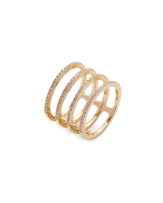 EF Collection | Metallic Multi Spiral Diamond Ring | Lyst