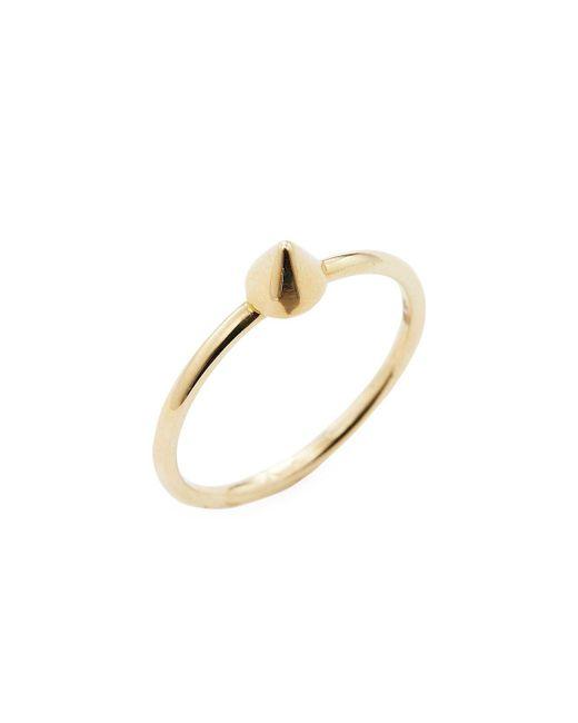 Sydney Evan - Metallic Rose Gold Spike Ring - Lyst