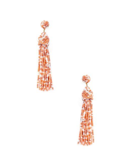 Deepa Gurnani - Multicolor Beaded Drop Tassel Statement Earrings - Lyst