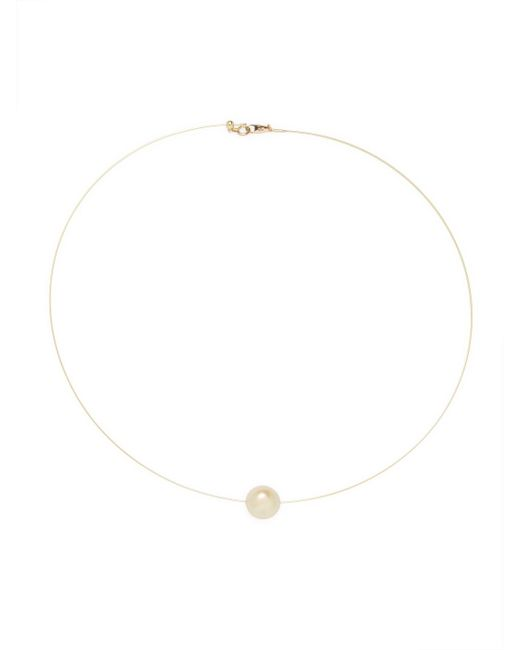 Belpearl - White 14k Yellow Gold & South Sea Pearl Wire Necklace - Lyst