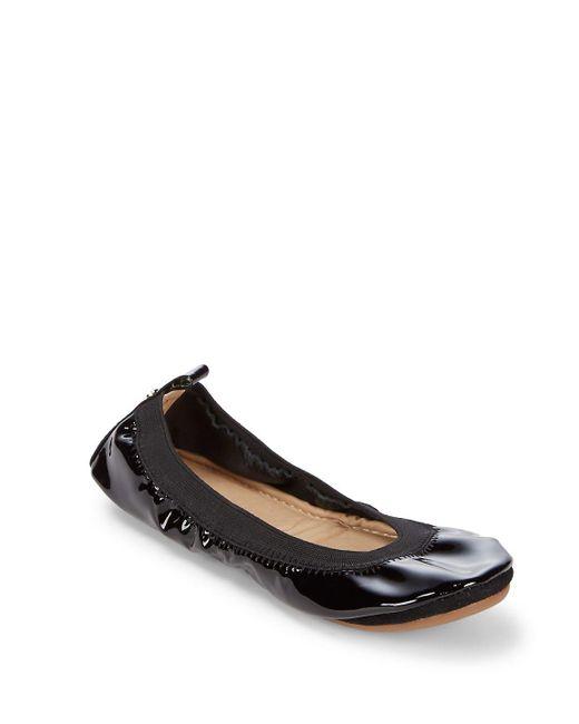 Yosi Samra - Black Samara Solid Leather Ballet Flats - Lyst