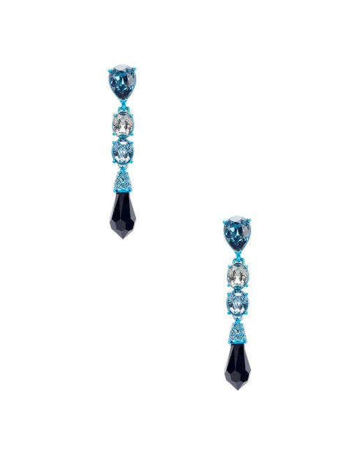 Oscar de la Renta - Blue Faceted Pendant Earrings - Lyst