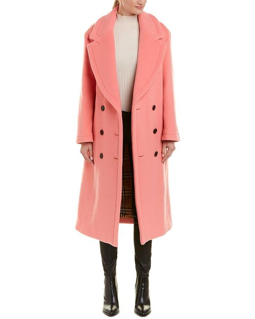 Burberry - Pink Walsingham Double-face Wool Cashmere Coat - Lyst
