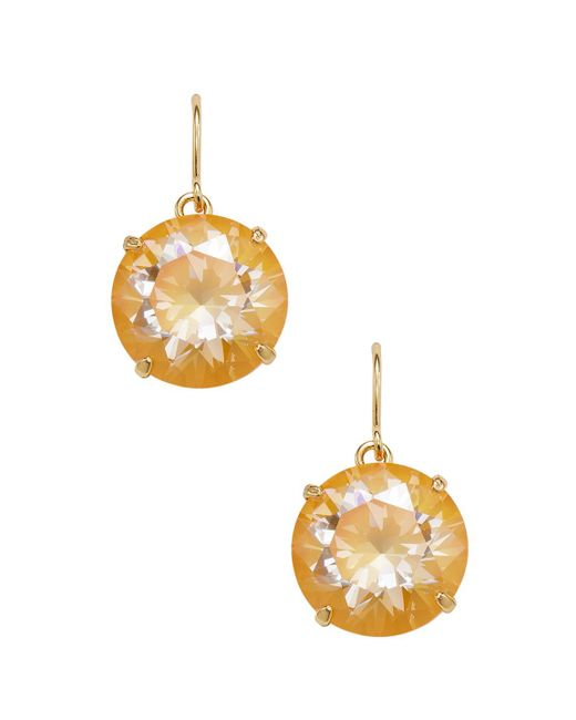 Kate Spade - Yellow French Wire Drop Earrings - Lyst