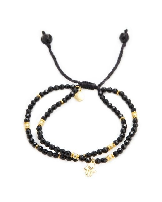 Tai | Black Hamsa Friendship Bracelet | Lyst