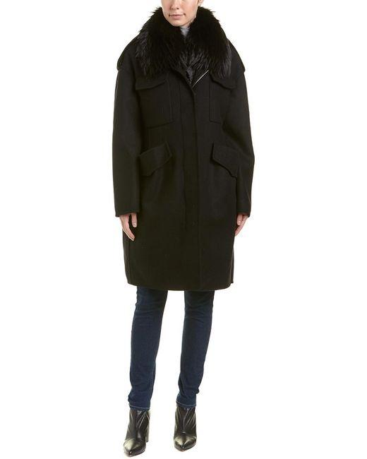 Moncler - Black Philliera Wool & Cashmere-blend Coat - Lyst