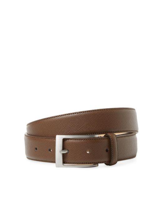Saks Fifth Avenue | Brown Textured Belt for Men | Lyst