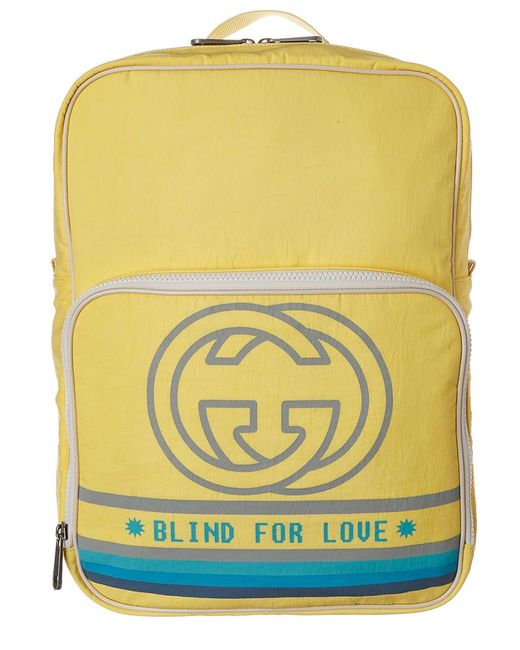 0fd2d8a65f2 Lyst - Gucci Medium Backpack With Interlocking G Print in Yellow ...
