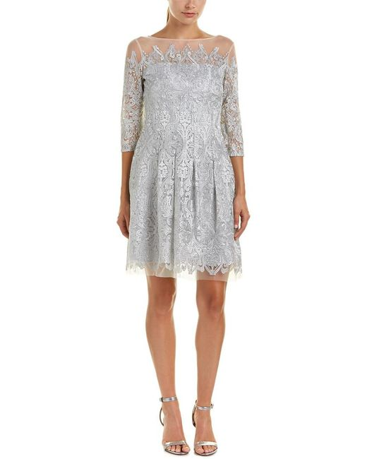 Kay Unger - Gray A-line Dress - Lyst