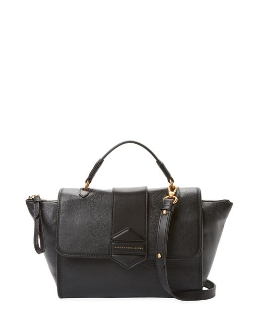 Marc By Marc Jacobs | Black Flipping Out Leather Top Handle Satchel | Lyst