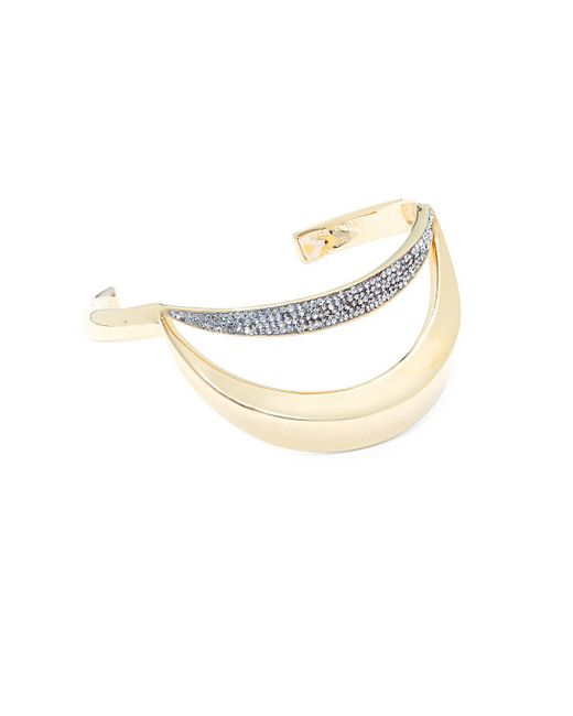 Chloé - Metallic Crystal Bangle Bracelet - Lyst