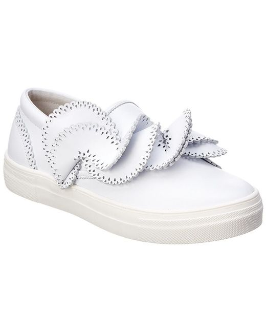 Sophia Webster - White Soleil Adele Leather Sneaker - Lyst