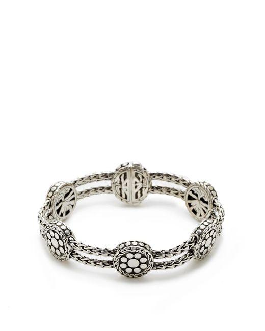 John Hardy - Metallic Dot Silver Six Station Bracelet - Lyst