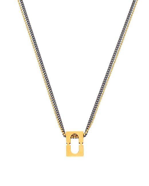 Diane von Furstenberg   Metallic Rectangle Chain-link Pendant Necklace   Lyst