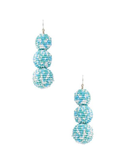 Deepa Gurnani - Blue Ball Beaded Statement Earrings - Lyst