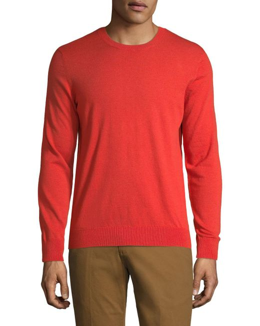 Burberry - Red Sweater for Men - Lyst