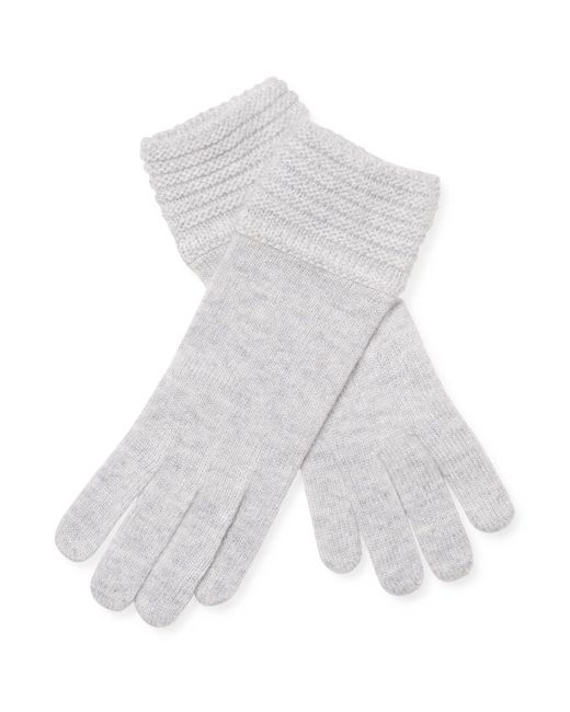 Portolano - Metallic Knitted Solid Gloves - Lyst