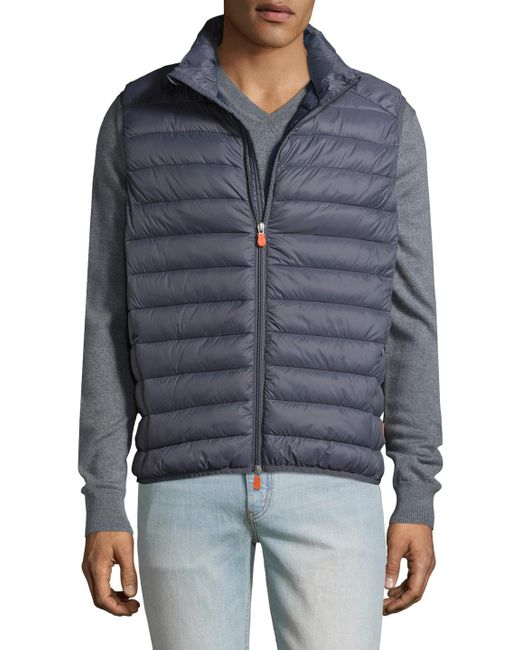 Save The Duck | Gray Basic Solid Vest for Men | Lyst