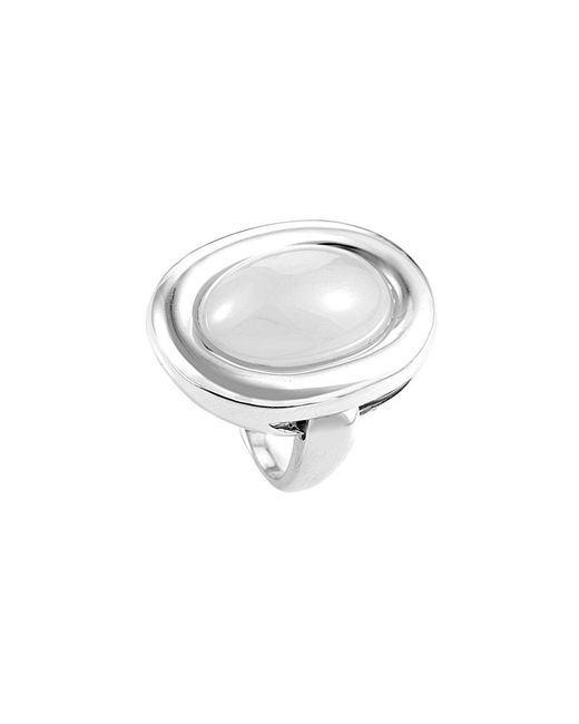 Poiray Metallic 18k 16.00 Ct.chalcedony Ring