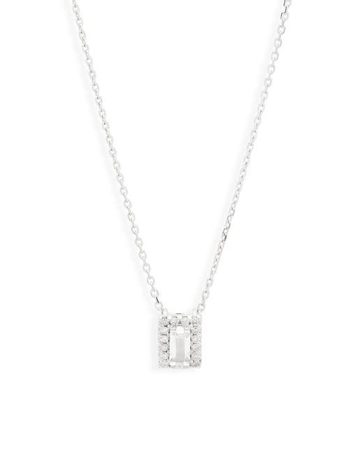 Suzanne Kalan - Diamond, White Topaz, Garnet And 14k White Gold Pendant Necklace - Lyst