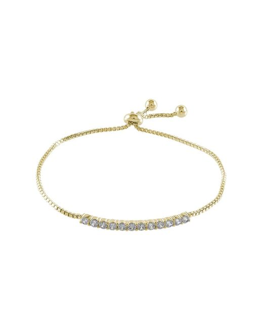 CZ by Kenneth Jay Lane | Metallic Round Cz Adjustable Bracelet | Lyst