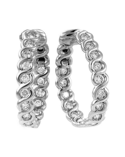 Heritage Van Cleef & Arpels - Metallic Van Cleef & Arpels 18k 2.5 Ct. Tw. Diamond Hoop Earrings - Lyst