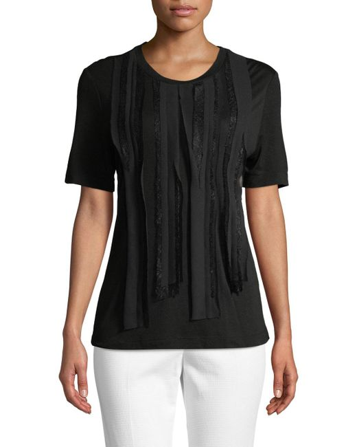 Jason Wu - Black Distressed Wool-cashmere Top - Lyst