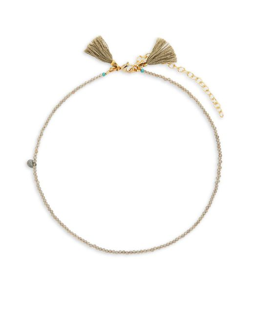 Shashi   Metallic Lola 18k Gold-plated & Beaded Choker Necklace   Lyst