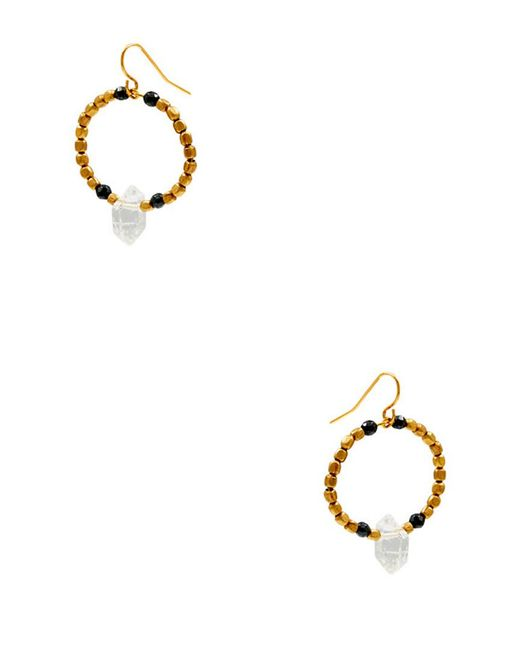 Vanessa Mooney - Metallic Rumor Crystal Hoops - Lyst