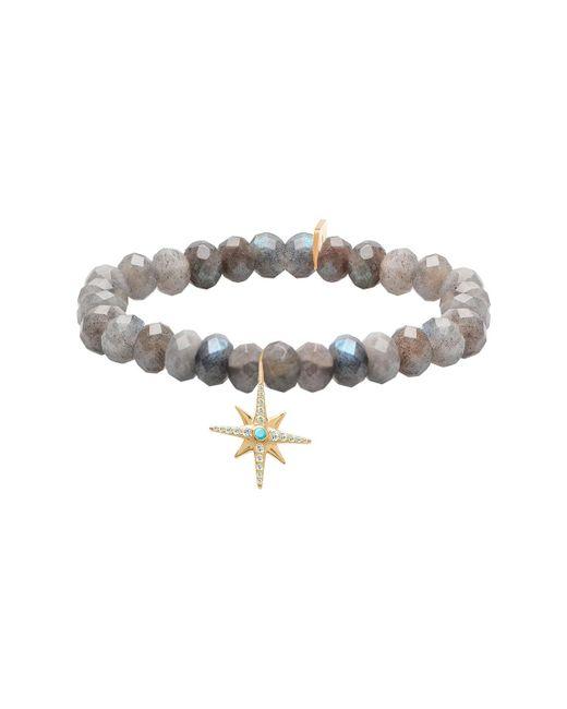 Gabi Rielle - Metallic 22k Gold Vermeil North Star Labradorite & Turquoise Stretch Bracelet - Lyst