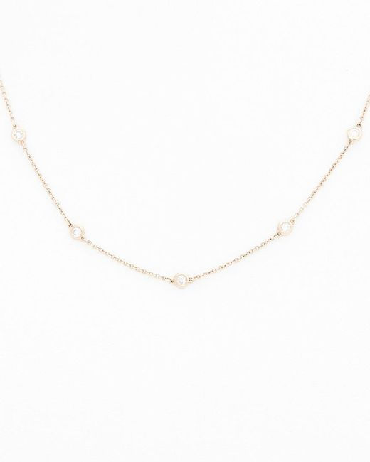 Diana M - Metallic . Fine Jewelry 14k Rose Gold 0.40 Ct. Tw. Diamond Necklace - Lyst
