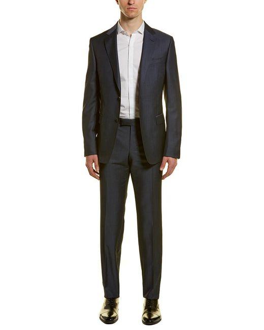 Ermenegildo Zegna Blue Z Zenga Turati 2pc Wool & Mohair-blend Suit With Flat Pant for men