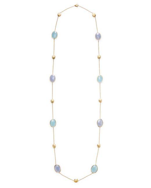 Marco Bicego - Metallic 18k Yellow Gold Aquamarine & Chalcedony Siviglia Necklace - Lyst