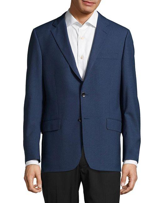 Hickey Freeman - Blue Milburn Ii Textured Wool Jacket for Men - Lyst