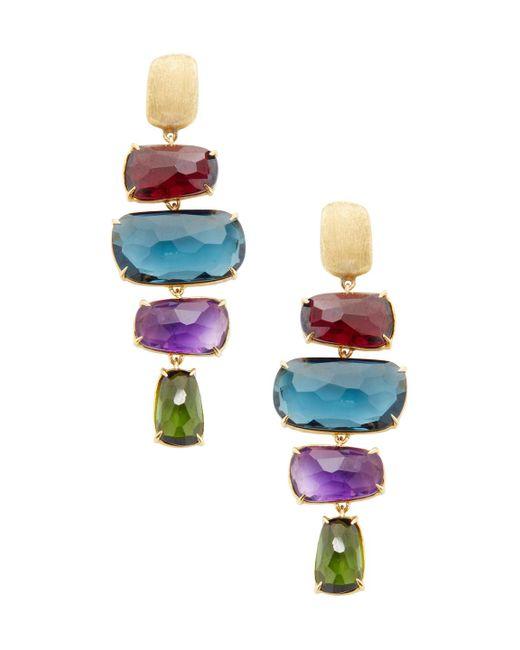 Marco Bicego - Multicolor Murano 18k Yellow Gold & Gemstone Earrings - Lyst