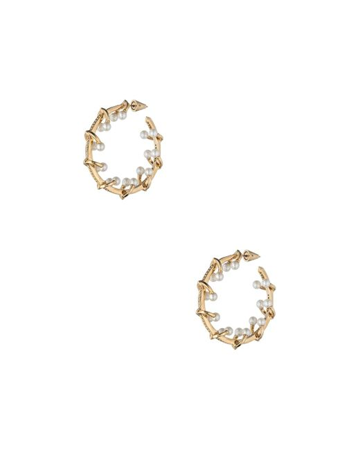 Eddie Borgo - Metallic Pierced Horseshoe Barbell Hoop Earrings - Lyst