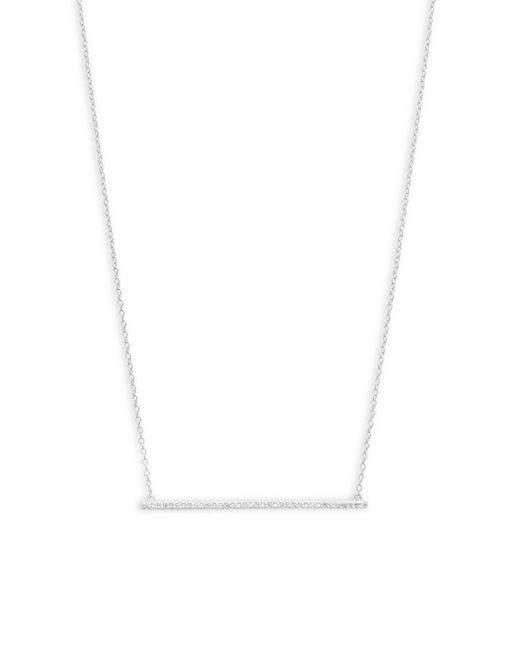 Danni - Multicolor Diamond And 14k White Gold Thin Bar Pendant Necklace - Lyst