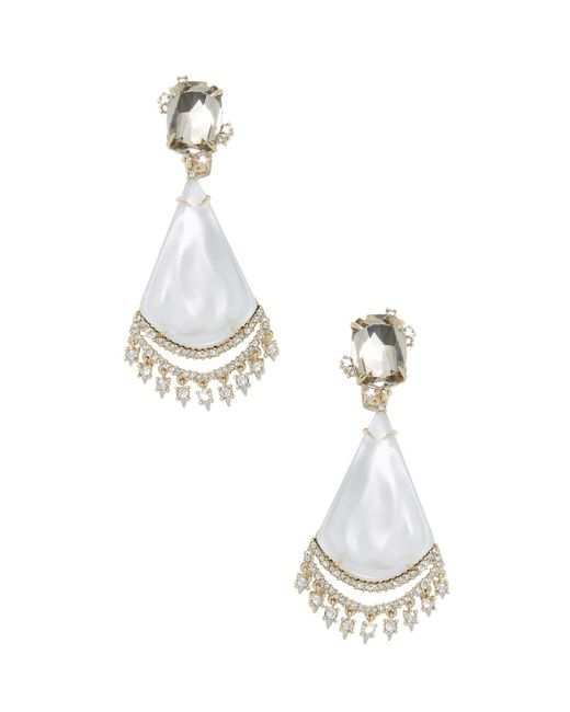Alexis Bittar - Metallic Lucite Crystal Lace Liquid Silk Chandelier Drop Earrings - Lyst