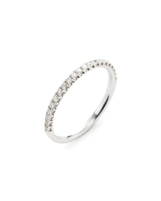 Nephora | Metallic Silver Diamond Ring | Lyst