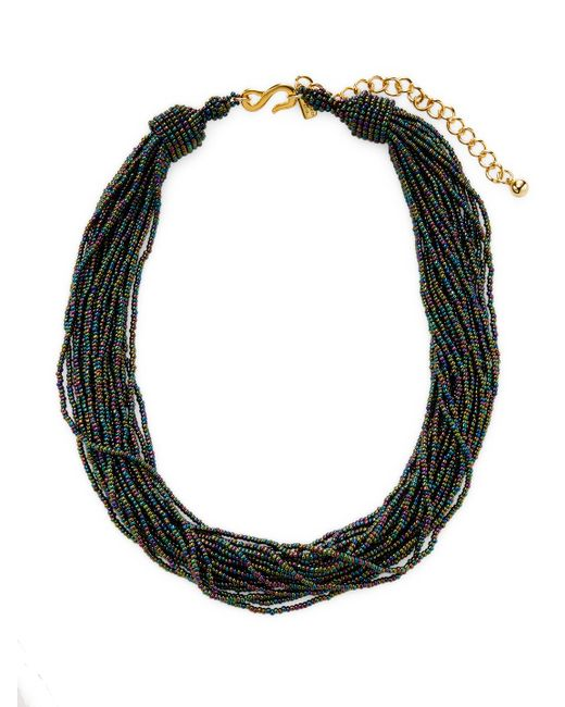 Kenneth Jay Lane - Black Resin Twisted Layer Statement Necklace - Lyst