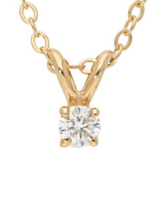 Nephora - Metallic 14k 0.10 Ct. Tw. Diamond Necklace - Lyst