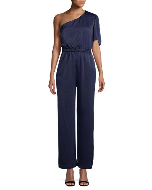 Plenty by Tracy Reese - Blue One Shoulder Jumpsuit - Lyst