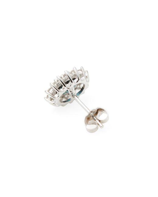 Rina Limor Chalcedony and Sapphire Round Stud Earrings 6fPhK