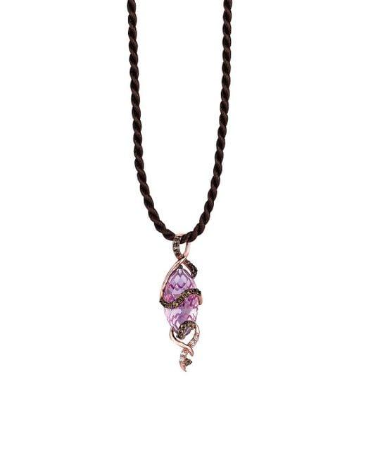 Le Vian - Metallic Multi-stone And 14k Strawberry Gold Pendant Necklace - Lyst