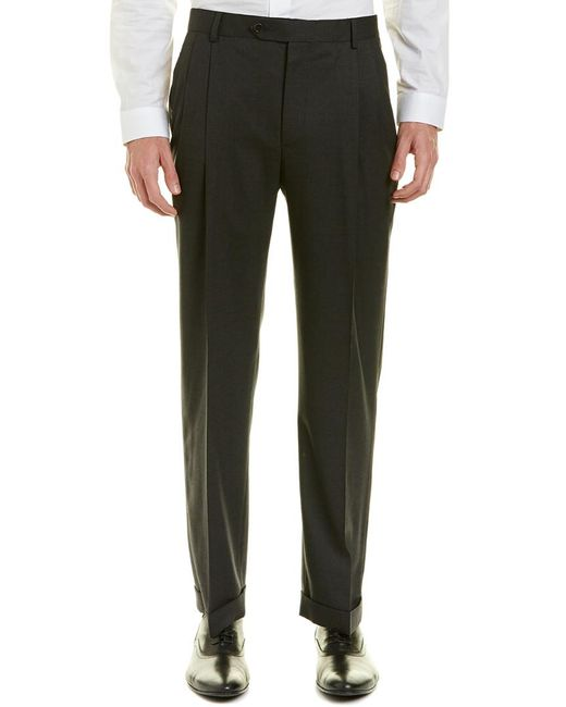 Brooks Brothers - Gray Brooks Brother Madison Fit Pleated Wool-blend Trouser for Men - Lyst
