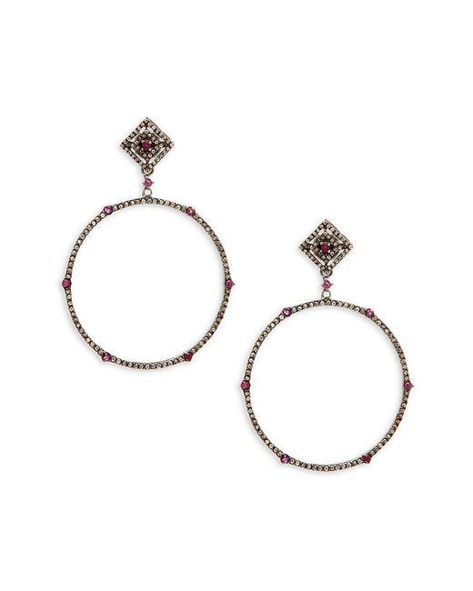 Bavna - Metallic Silver 2.05 Ct. Tw. Diamond Drop Earrings - Lyst