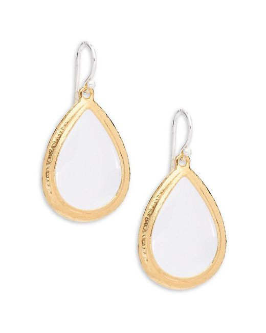 Gurhan - Metallic Geo 24k Yellow Gold Plated Rock Crystal & Silver Dangle & Drop Earrings - Lyst