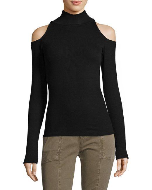 Joe's Jeans - Black Olivia Mockneck Top - Lyst