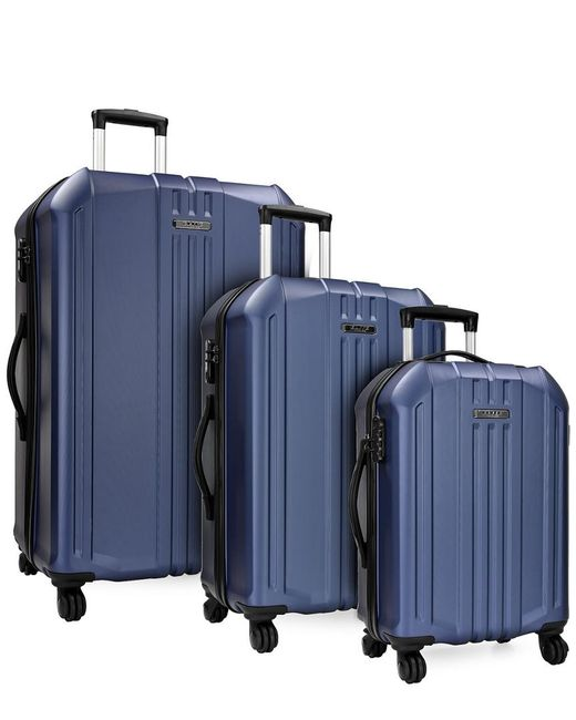 Elite Luggage - Blue Long Beach 3pc Hardside Spinner Luggage Set - Lyst